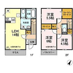 桜 フレグランスII[101号室]の間取り