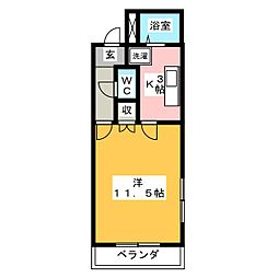 コンフォース D・J[1階]の間取り