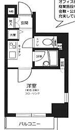 東京都新宿区市谷台町の賃貸マンションの間取り