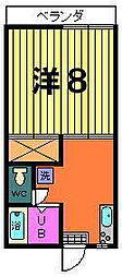 パールハイツ[1-D号室]の間取り