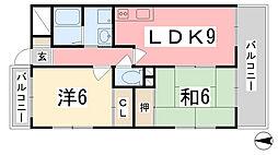 プランドール柳井[303号室]の間取り