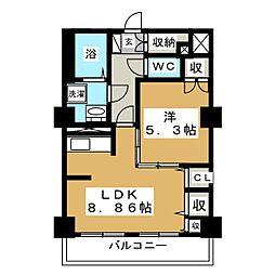 レジデンスカープ札幌[6階]の間取り