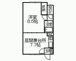 桐井マンション[2階]の間取り