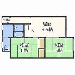 コーポ木村[2階]の間取り