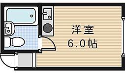 サンフラワー駒川[5階]の間取り