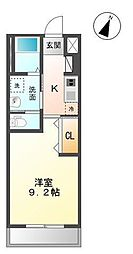 木更津市真舟5丁目新築アパート[205号室]の間取り