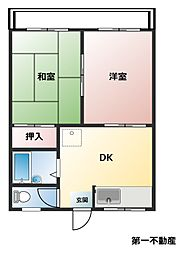 兵庫県西脇市和布町の賃貸アパートの間取り