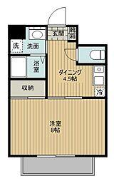 ユートピア三愛新島[503号室]の間取り