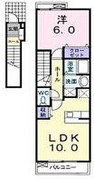 兵庫県神戸市垂水区多聞台2丁目の賃貸アパートの間取り