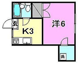 ペンション大手町[503 号室号室]の間取り