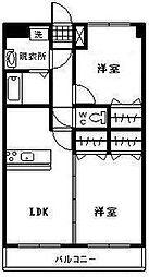 アンシャンテⅡ[305号室]の間取り