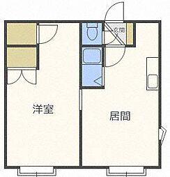 北海道札幌市東区北二十八条東2丁目の賃貸アパートの間取り
