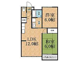 千葉県千葉市緑区あすみが丘1丁目の賃貸アパートの間取り