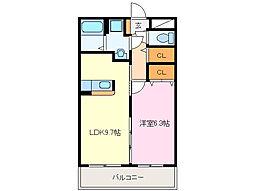 近鉄山田線 斎宮駅 徒歩25分の賃貸マンション 3階1LDKの間取り