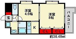 シャロームミキ[5階]の間取り