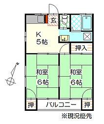 ハイツKSI A[2階]の間取り