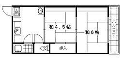 養稼公寓[202号室号室]の間取り