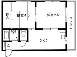 青山マンション[302号室]の間取り