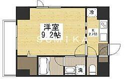 THE MODERN桑田町 6階1Kの間取り