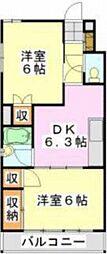 蘇我第二マンション[5階]の間取り