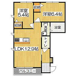 アウリンコ円面田(NO.4446)[101号室]の間取り