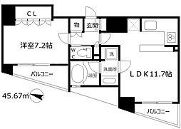 リーガル岡崎橋[13階]の間取り