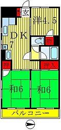 コーポヒロ[407号室]の間取り
