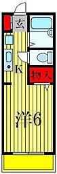 サンファスト松戸[2階]の間取り