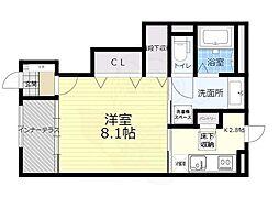 阪急千里線 北千里駅 バス6分 今宮三丁目下車 徒歩4分の賃貸アパート 1階1Kの間取り