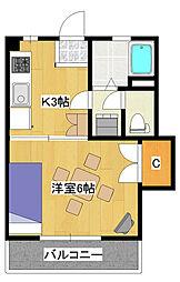 飯野コーポ[2階]の間取り