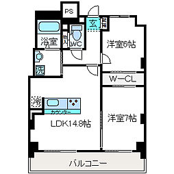 LIBRA TAKATSUKI[903号室]の間取り
