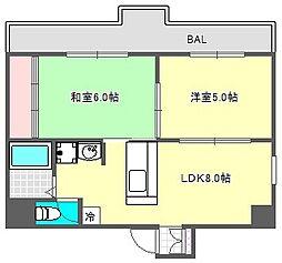 川崎ビル[9階]の間取り