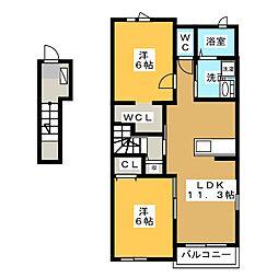 レ・セーナⅡ[2階]の間取り