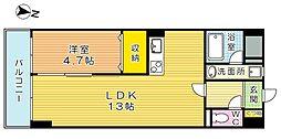 THE SQUARE・Club Residence (ザ・ス[702号室]の間取り