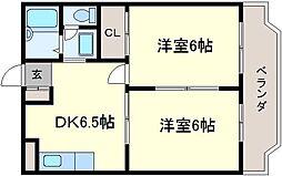 大阪府堺市北区百舌鳥梅町1丁の賃貸マンションの間取り