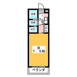 グランドシャトーK1[1階]の間取り