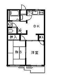 ソリティアA棟[2階]の間取り