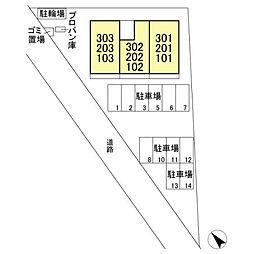 埼玉県春日部市一ノ割1丁目の賃貸アパートの外観