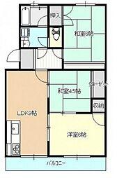 住屋ハイツB棟[1階]の間取り