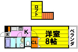 KTIレジデンス蛍池II[303号室]の間取り