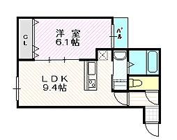 リアライズ鶴見諸口[4階]の間取り