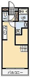 (賃)バンベール江平[5階]の間取り