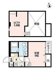ルッカ新松戸[101号室号室]の間取り