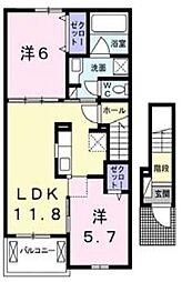 ラズベリー コート[2階]の間取り