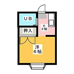 コーポコヤマ1[2階]の間取り