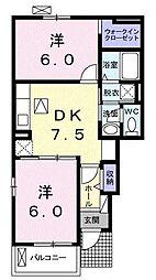 シティ クレメント[1階]の間取り