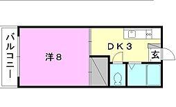 北尾マンション[203 号室号室]の間取り
