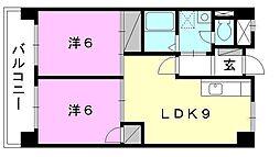 道後山本ビル[402 号室号室]の間取り