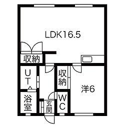 コーポ関井[103号室]の間取り