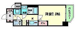 ララプレイス大阪城WESTEN[201号室]の間取り